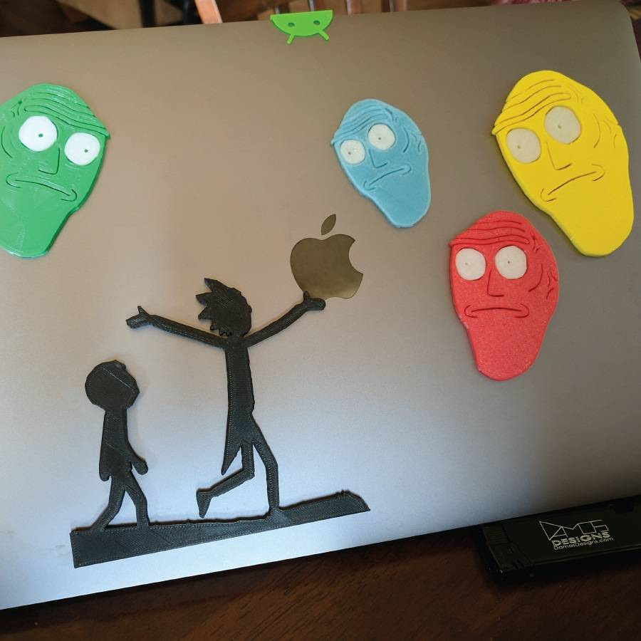 Rick and Morty Laptop Stickers