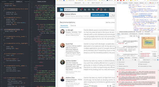 Embed LinkedIn Recommendations with HTML and CSS