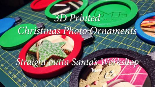 3D Printed Christmas Photo Ornaments!