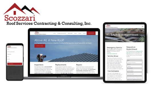 Scozzari Roofing Website